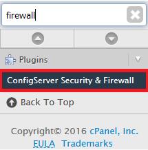 WHM: Firewall (unblocking ip's, whitelisting and blacklisting them